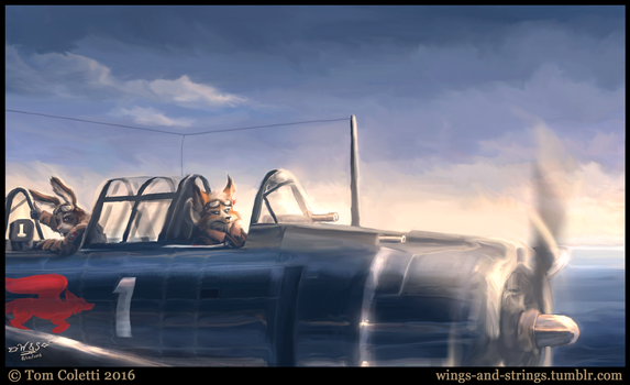 Star Fox, circa 1943 by Wings-and-Strings