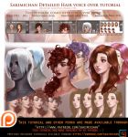 How to paint hair Detailed . Voice over tutorial. by sakimichan