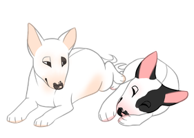Chubby Wittle Puppies by jealousapples