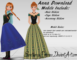 {MMD DOWNLOAD} Anna (Casual + Coronation) by MariCorsair