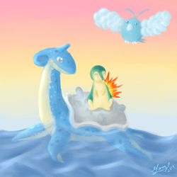 All Aboard Lapras by blizzardfoot