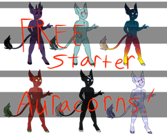Free bald Starter Auracorns - CLOSED by Ex-nihilo-nihil-fit