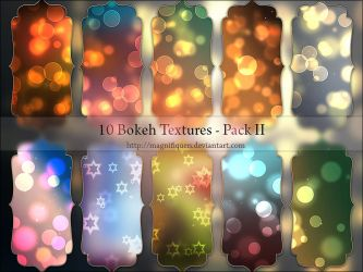 10 Light Textures - Bokeh Pack II by MagnifiqueN