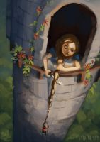 Rapunzel by Lyraina