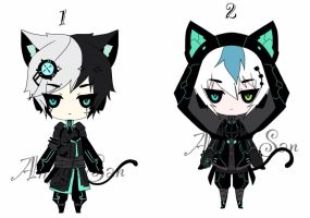 Techno Kemonomimi Adoptables CLOSED by AS-Adoptables