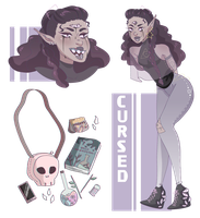 [CLOSED AUCTION] cursed demon adopt by tzenie