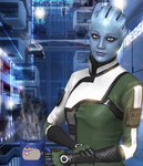 Liara enjoying her coffee. by Razz8