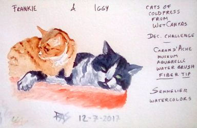 Two Cats: Iggy and Frankie by robertsloan2