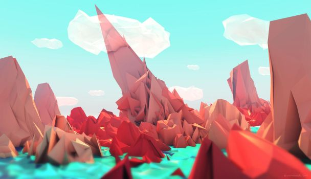 The Red Mountains by StephanieStutz