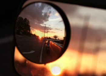 Sunset in Rear View by WesleyH