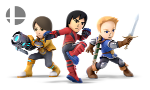 SSBU Fighters - Mii Fighters by TheCriticalKidd