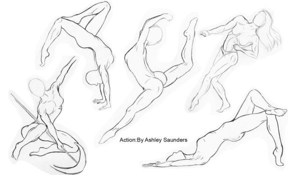 Human Figure sketching by ASaunders