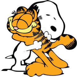 Garfield and Snoopy by thaty369