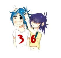 2d and Noodle by RenetaMedea