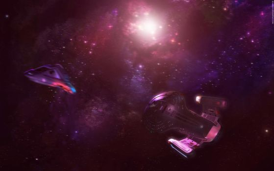 USS Voyager WP by Hameed