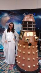 Romana 1 and Dalek Cosplay @ SD Who Con 2016 by freakismyword