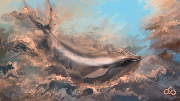 Flying Whale by cumalee
