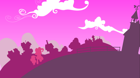 Pinkie in the town Wallpaper by BR-David
