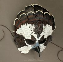 Fantasy Osprey Leather Mask by windfalcon