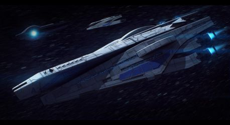 Mass Effect Veracruz-Class Cruiser Commission by AdamKop