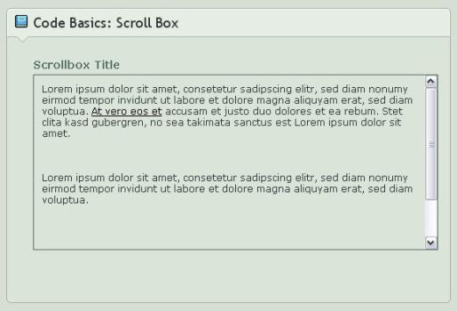 .:Code Basics: Scroll Box by ginkgografix