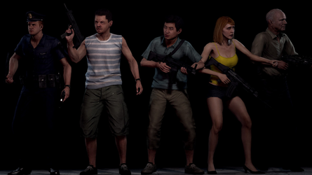 Resident Evil 6 Tall Oaks Citizens by BradVickers