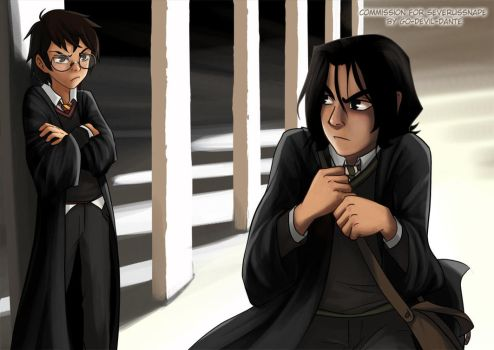 comish - givin snape the evils by Go-Devil-Dante