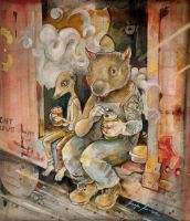 Meerkat and Wombat by miorats