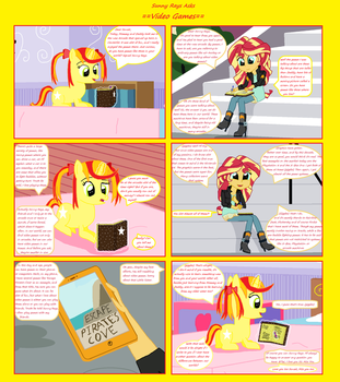 Sunny Rays Asks Comic 1 - Video Games by ThomasZoey3000