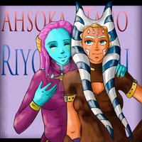 Ahsoka Tano and Riyo Chuchi by Chyche
