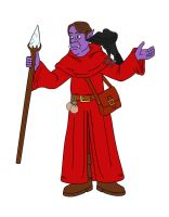 Talel the Coug the Half-Orc Wizard color by LLCoolZJ