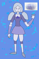 Crystal Gem OC ~ Blue Lace Agate by QuestionUnicorn