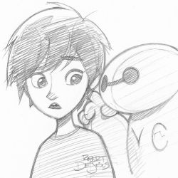 Big Hero 6 Sketch by Banzchan