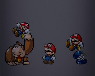 Mario vs Donkey Kong by rephl