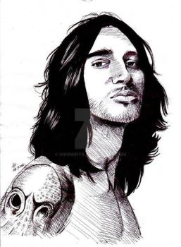 Portrait of John Frusciante by Hirominya