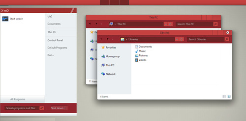 X-reD Theme for win 8/8.1 by Cleodesktop