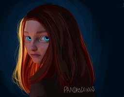 Hair Ablaze by PandasWings