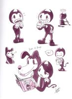 Bendy and Boris by WelineDeem