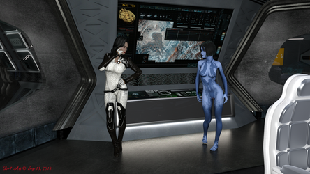 Cortana and Miranda Control Room by ddpepsi