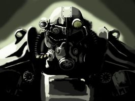 Brotherhood power armour by why-was-it-a-PIG