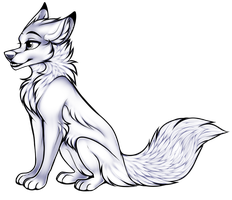 Free To Use - Canine Sitting Pose by AethonGryphon