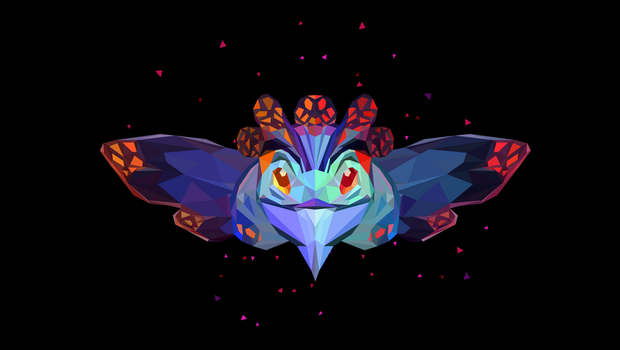 Low Poly Art - Puck Dota 2 by giftmones