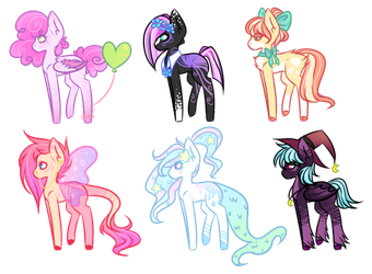 [OPEN] Collab Pony Adopts auction: Points or PP by LunnaDeLuna