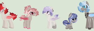 + Adopts - color theme bats (CLOSED) + by OwlliesPonies