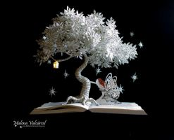 Dreamy Nights - Book Art by MalenaValcarcel