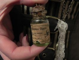 Steampunk apothecary necklace  Poison Apple by Sam-Castle