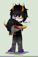 Gamzee and Tavros by Gilouw