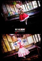 Flandre and Remilia Scarlet Touhou by random-pax