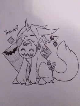 Lyall's First Halloween (October Prompt) by EternaNyx-Art