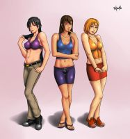 Harratu, Kim and Lacita by Radprofile
